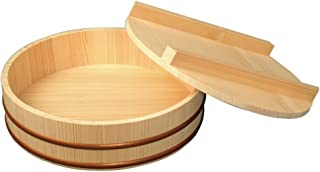 ヤマコー 『寿司桶』 天然木寿司飯台蓋付直径27cm (約2.5合)