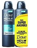 Dove - Desodorante Clean Confort Hombre Ahorro - 2 x 200 ml