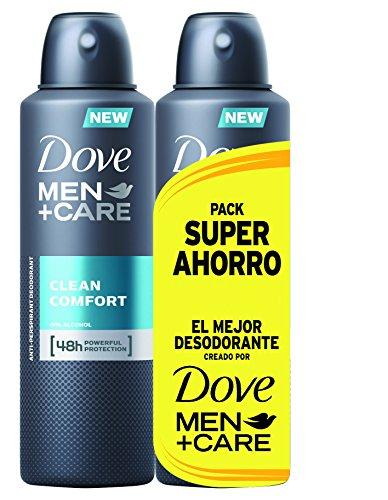 Dove Men Pack Ahorro Desodorante Clean Comfort - 2 x 200 ml