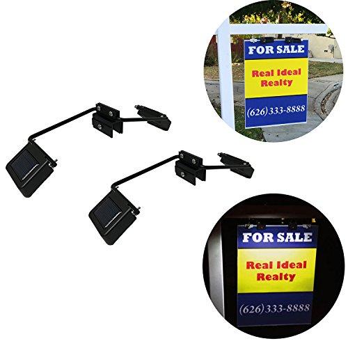 Homebrite Solar Real Estate Anodized Aluminum Alloy Dual Side Sign Lights - Set of 2