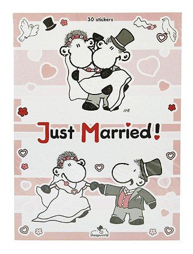 Sheepworld 40889 - Stickerbogen A4 Hochzeit 30 Aufkleber, Mehrfarbig