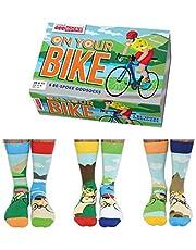 Fiets sokken 6 verschillende in een doos Heren maat 39-46