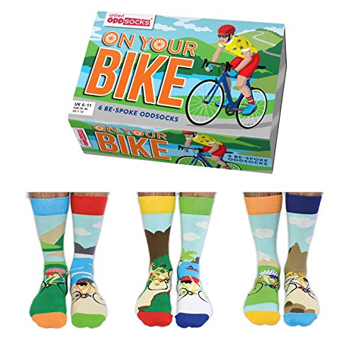 On Your Bike Fahrrad Oddsocks Socken in 39-46 im 6er Set - Strumpf