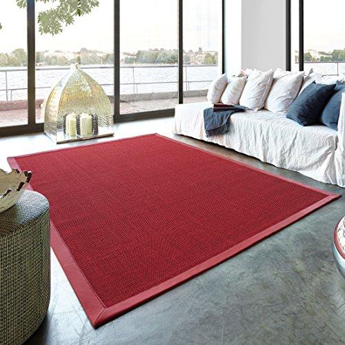 Astra Sisal-Teppich Manaus rot 140 x 200 cm - (3040054201 11/11)