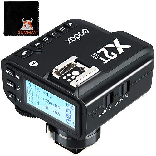 Godox X2T-N TTL Inalámbrico Flash Disparador 1 / 8000s HSS Función TCM para Nikon cámara conexión Bluetooth 5 Botones de Grupo y 3 Botones de función