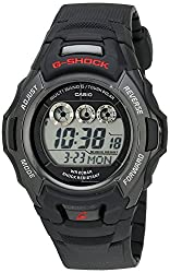 professional Casio G-Shock GWM530A-1 Tough Solar Atomic Black Resin Men's Sports Watch