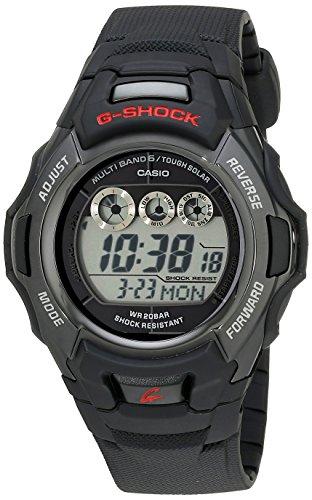 Casio Men's G-Shock GWM530A-1 Tough Solar Atomic Black Resin Sport Watch