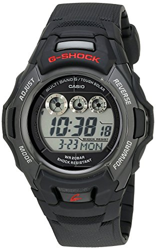 Casio Men's G-Shock GWM530A-1 Tough Solar Atomic Black Resin Sport Watch