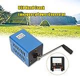 Generador Electrico Manivela,Generador Electrico de Alta Potencia Máxima 20W Bajo Nivel de Ruido en Operaciones de Campo, Excursiones, Operaciones de Rescate
