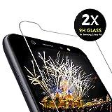 ONKING [2 Stück] Folie für Samsung Galaxy A6 2018 /J6 2018 Panzerglas,9H AGC Glas HD Bildschirmschutzfolie für Samsung Galaxy J6/A6 2018 Schutzfolie Frei von Kratzern Fingabdrücken (2 Pack)