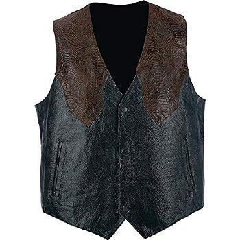 Giovanni Navarre & Trade Hand-Sewn Pebble Grain Genuine Leather Western-Style Vest 2X