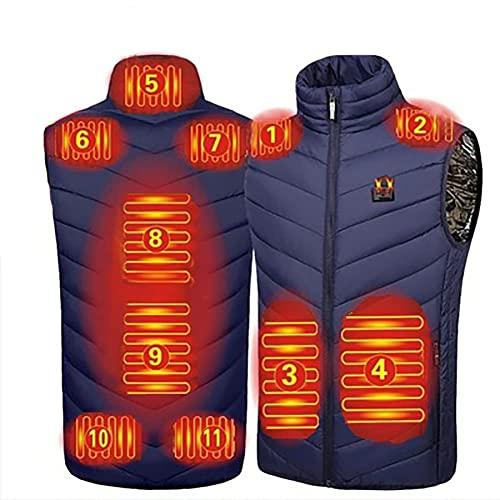TCTCXQG Beheizte Weste Beheizte Weste, waschbare beheizbare Weste für Körperwärmer im kalten Winter, Wärmejacke für Männer und Frauen, beheizbare Weste USB-beheizte Weste