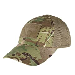 - Genuine Crye Precision Multicam material, sewn in foreign country. - Highly breathable mesh panel for moisture - wicking. - Adjustable hook & loop  back strap. - 3 hook & loop panel for patches.