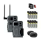 SPYPOINT Link-Micro-LTE Twin Pack Premium Bundle of Cellular Trail Cameras | Includes 16 AA Batteries and Two 32G MicroSD Card | 4G/LTE Photo Transmission (DUOPACK Link-Micro-LTE-V Bundle)