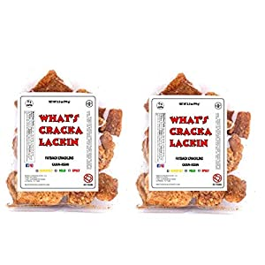 Fatback Cracklins, Cajun-Asian Flavor, Keto Friendly Snack with Zero Carbs per Serving, Extra Crunchy Chicharrones, Free Shipping $29+ for What's Crackalackin, LLC products.