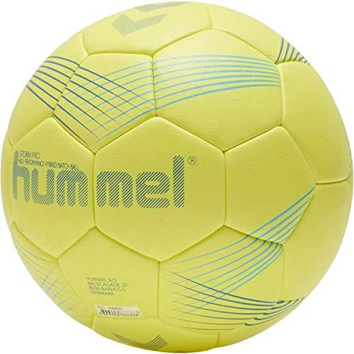 hummel Unisex-Adult Storm PRO HB Handball, Yellow/Blue, 3