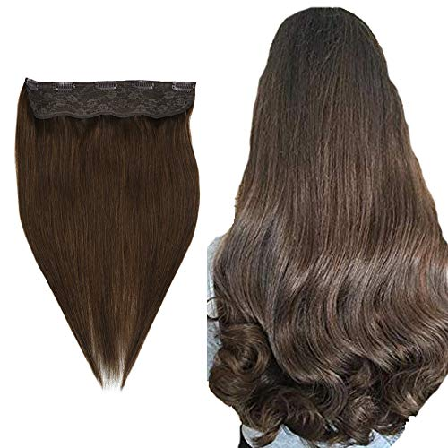 Easyouth One Piece Clip In Extensions Echthaar 80 Grams Farbe #4 Mittelbraun 18 Zoll Thick Hair Extensions Clip In Human Hair Human Hair Clip Ins