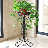 Metal Tall Plant Stand Indoor/Outdoor,Iron Flower Pot Holder Small Plant Holders,Flower Pot Stand Flower Pot Supporting,Potted Plant Stand Plant Rack Planter Stand,for Home,Garden,Patio(Black,29.5in)