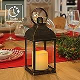 WRalwaysLX - Farolillos decorativos con velas, sin llama y con temporizador para...