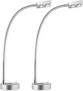 Dream Lighting 12V LED Reading Light - Spot Light with Aluminum Stalk - Cool White Lighting Chart/Book Wall Lamp for Marin...