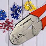 Electroplated Steel Wire Crimper Tool 4 Heat Shrink Wire...