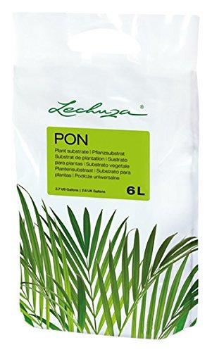 LECHUZA PON Pflanzsubstrat, 6 l, Mineralgestein, Allergiker geeignet, Inkl. Langzeitdünger, Alternative zu herkömmlicher Erde, 19790
