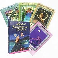 44個の魔法のマーメイドとイルカのオラクルタロットカード、英語版、ボードゲームカードタロットデッキテーブルゲーム占いの運命