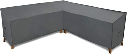 Patio Watcher Sectional Lounge Set Cover, Durable and Waterproof Patio Furniture Sectional Middle Sofa Cover, Grey