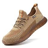 Zapatos de Seguridad para Hombre Zapatillas Zapatos de Mujer Seguridad de Acero Ligeras Calzado de Trabajo para Comodas Unisex Zapatos de Industria y Construcción Rojo 40