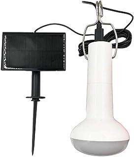 NOENNULL Lampa solarna dla kurnika, przenośna, wisząca lampa solarna LED, lampa do szopy z panelem słonecznym do namiotów ...