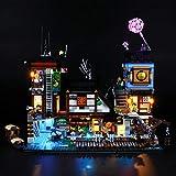 LIGHTAILING Conjunto de Luces (Ninjago Muelles de la Ciudad) Modelo de Construcción de Bloques - Kit de luz LED Compatible con Lego 70657 (NO Incluido en el Modelo)