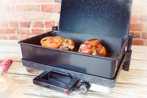 SCHEFFLER | TANDUR Hochwertiger Multikontaktgrill mit Granitbeschichtung Ink. Brat- und Backkasserolle - Ideal für Diäten - Übertönt alle anderen küchengeräte - 2000W