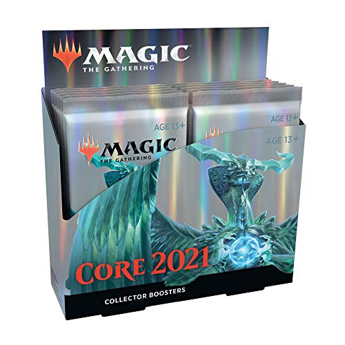 Magic: The Gathering Core Set 2021 (M21) Collector Booster Box | 12 Packs | Min. 4 Rares Per Pack | Latest Set, Model Number: C75100000