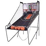 vengaconmigo Panier de Basketball Pliable Jeu de Basketball Arcade Double Panier 4 Ballons et Un...