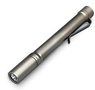 Foursevens Preon P2 MKIII Flashlight, Bright and Compact EDC Pocket Flashlight with 6 Configurable Modes: Low, Med, High, Strobe, SOS, Beacon (Electroless Nickel)