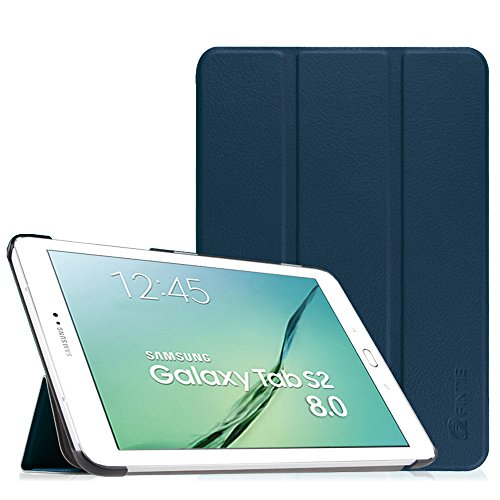 FINTIE Case for Samsung Galaxy Tab S2 8.0 - Super Thin Lightweight SlimShell Stand Cover with Auto Sleep/Wake Feature for 2015 Galaxy Tab S2 (Model: SM-T710 / T715 / T713 /T719), Navy