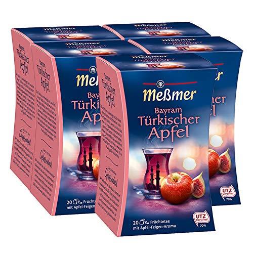 Meßmer Türkischer Bayram, APfel-Feige 20 Teebeutel, 5er Pack (5 x 50 g Packung)