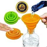 MEIJUBOL Faltbarer Trichter Verdicken 2er-Set Silikon-Falttrichter BPA-frei mit weitem Mund