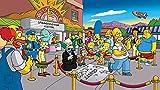 Puzzles Adultos 1000 Piezas Jigsaw Puzzle 1000 Piezas Los Simpsons Juego Educativo Intelectual Rompecabezas Difícil Y Desafiante para Niños