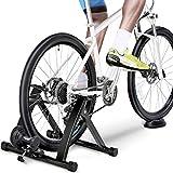 Yaheetech Entraineur Magnétique Turbo de Vélo Pliable Réglable Home Trainer pour Roues de 26 à...