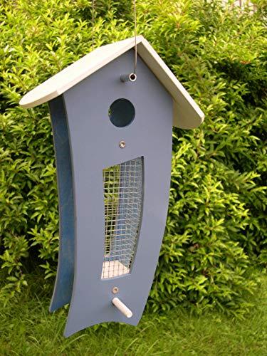 Futtersilo Futterhaus friesenblau/weiß