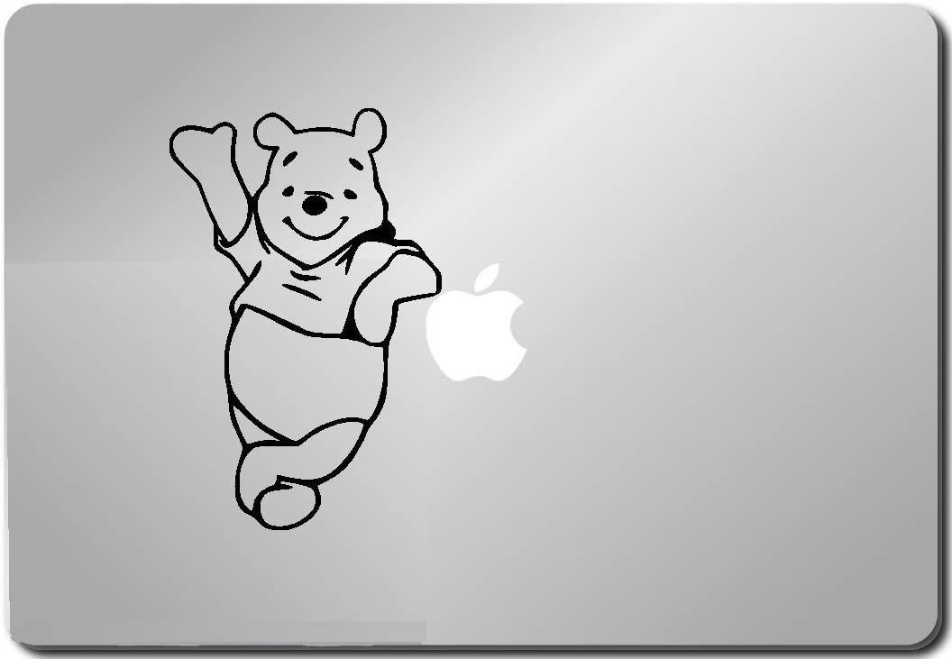 Pooh Leaning Computer Skin Apple Sticker Laptop Sticker Macbook Decal Computer Sticker Macbook 13 Inch Vinyl Decal Sticker Skin Cover Computer Sticker Computer Decal Decal Mac Decal for Mac Laptop Sticker Laptop Decal Newest Version Macbook Pro Laptop Quotes