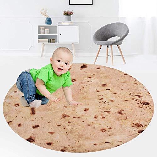 Iwinna Burritos, manta de tortilla de harina gigante, manta de tortilla perfectamente redonda, manta para crear alimentos para cama/sofá, picnic, playa, viajes, oficina, avión