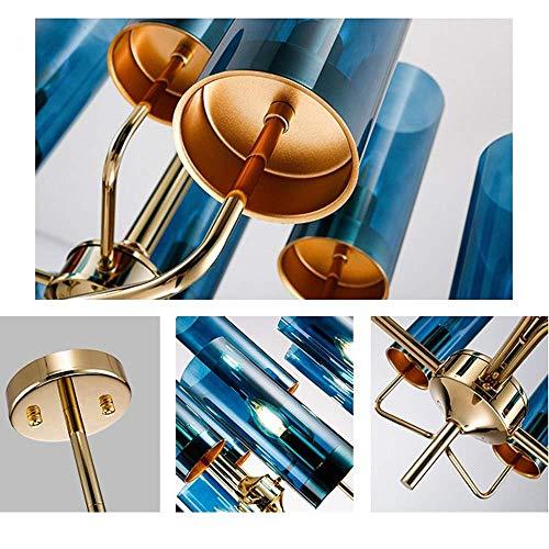 Kronleuchter,Postmodernes Licht Luxus Kunst LED Kronleuchter 12 Kristall Decken Kronleuchter Durchmesser 70cm Gesamte Lampenhöhe 58cm Blau Anwendbare Fläche 15-20m2 Dekoration