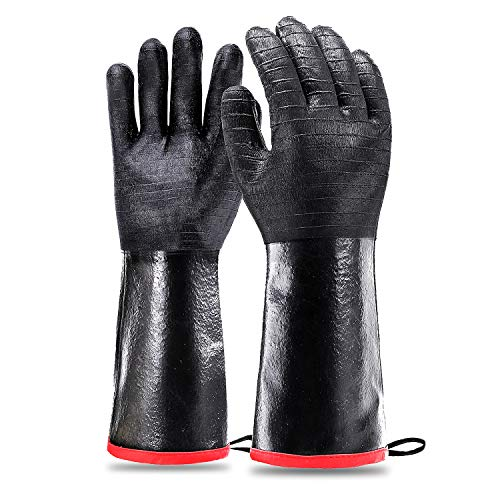 Schwer Grill BBQ Gloves 932℉ Heat Resistant Cooking Barbecue Gloves
