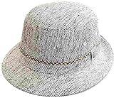 (ダックス)DAKS アルペンハット D1617 グレー 帽子 メンズ 紳士 涼しい UVケア 日除け 紫外線対策 麻 リネン ファッション オシャレ シンプル カジュアル アウトドア トレッキング ウォーキング ネット通販 春夏