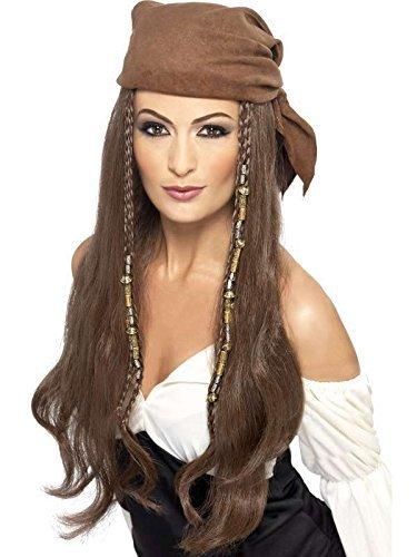 Perruque femme pirate avec bandana