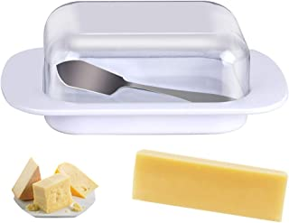 Choppie Butter Dish with Lid, Acrylic Cover Butter Keeper, Plastic Butter Dishes with Clear Covers, Butter Keeper with Knife, Durable and Butter Dish, Storage Trays for Butter and Cheese