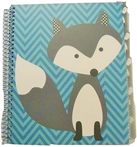 marcas de moda Carolina Pad Studio C C C College Ruled Poly Cover 5-Subject Spiral Notebook  Hair of the Dog (Fox on azul Stripes; 150 Sheets, 300 Pages) by Studio C  minoristas en línea