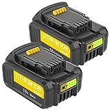 Kengdor 2X Batería de Repuesto DCB205 5.0Ah 18V para DeWalt DCB180 DCB181 DCB182 DCB184 DCB201 DCB200 Batería para DeWalt 18V